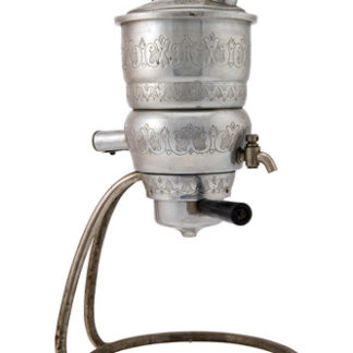 Antica Caffettiera in alluminio sbalzato