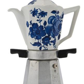 Moka in ceramica con cuccuma rimovibile