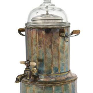 Fontana a vapore in ottone argentato