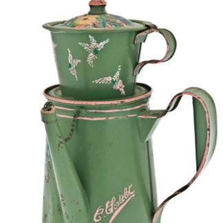 Caffettiera smaltata - colore verde