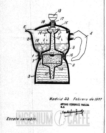 Caffexpress simil - brevetto Spagna 1957