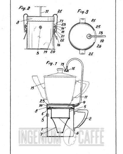 Caffettiera da fiamma - brevetto Spagna