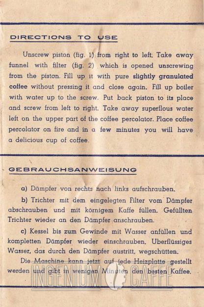 Caffettiera Mondial Express - istruzioni