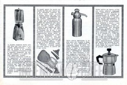 CAFFEXPRESS pubblicità - La cucina italiana - giugno 1955