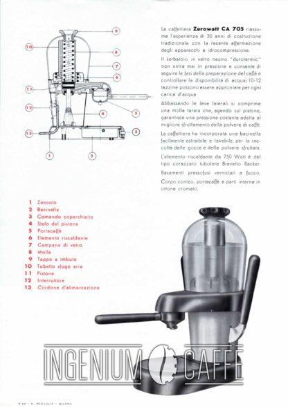 Zerowatt CA 705 - pubblicità dell'epoca