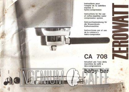 Zerowatt CA 708 - libretto d'istruzioni