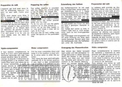 Zerowatt CA 708 - istruzioni originali