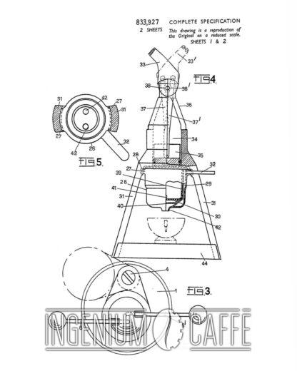 Faema Baby - brevetto Gran Bretagna