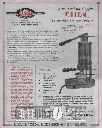 Gaggia Gilda 1948 - pubblicità