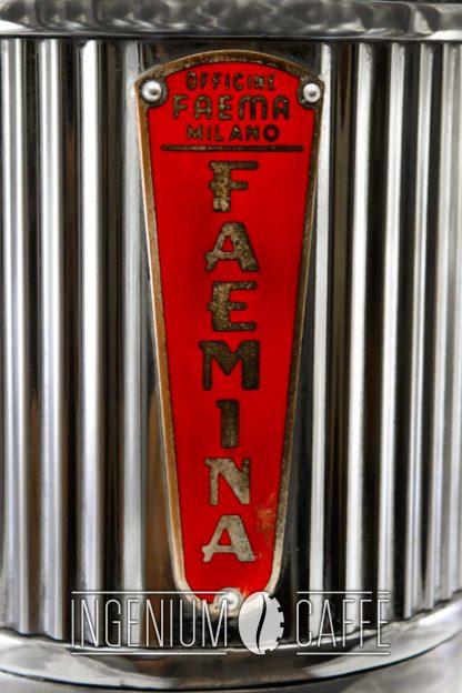 Faema Faemina – targhetta marchio
