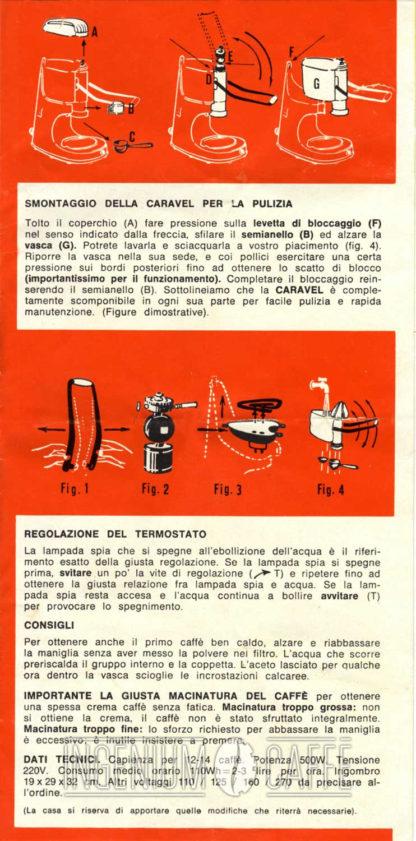 Caravel Arrarex - istruzioni smontaggio seconda serie