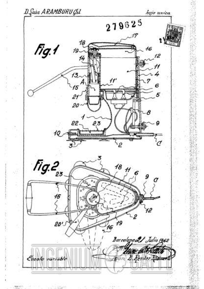 Caravel Arrarex - brevetto Clone spagnolo