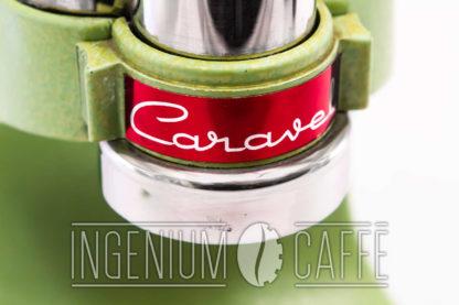 Macchina da caffè Caravel Arrarex – dettaglio scritta