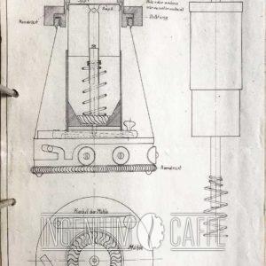 EDMARI – caffettiera, disegno originale del brevetto