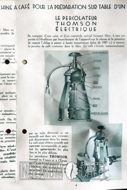 Cafetière Edmari – Percolateur Thomson