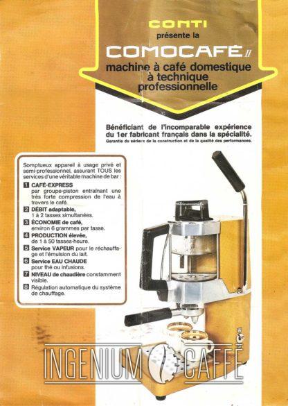 Conti Comocafé - istruzioni
