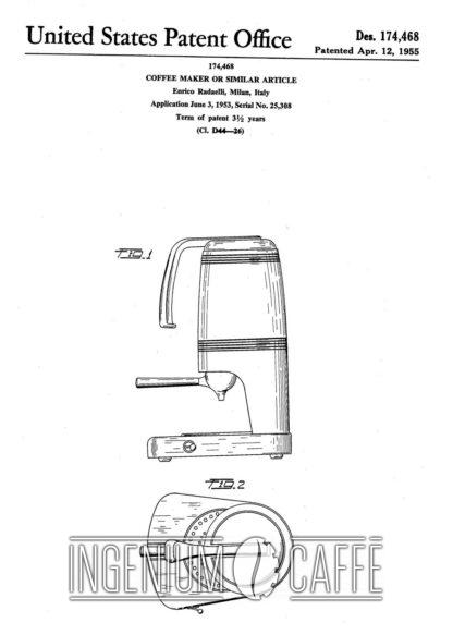 Caffomatic Radaelli - brevetto U.S.A.