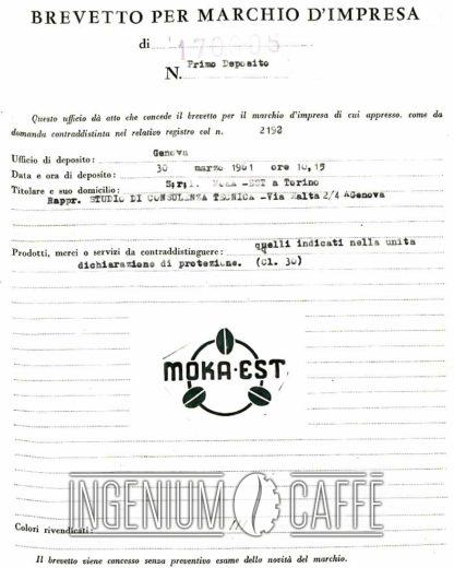 Moka Est - deposito marchio d'impresa
