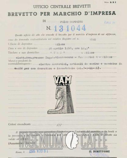 VAM Milano - Brevetto del marchio