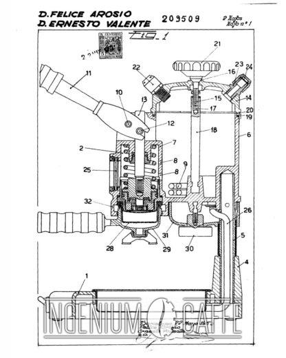 Faemina Faema - brevetto Spagna