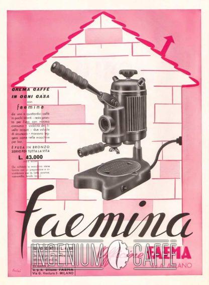 Faemina Faema - pubblicità dell'epoca
